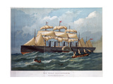 Pss 'Great Eastern on the Ocean, 1858 Giclee Print by Edwin Weedon