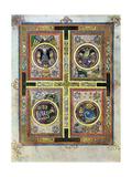 The Evangelical Symbols, 800 Ad Reproduction procédé giclée