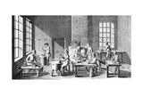 Needle Making Workshop, 1751-1780 Giclée-Druck