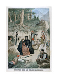 Miss Stone with the Macedonians, 1901 Giclee Print