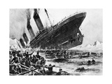 The Sinking of SS Titanic, 14 April 1912 Giclée-vedos