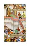 The Killing of Adham Khan by Akbar, C1600 Reproduction procédé giclée