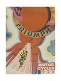 Poster Advertising Triumph Motor Bikes, 1929 Stampa giclée