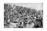The Battle of Towton, 29 March 1461 Reproduction procédé giclée par Richard Caton Woodville II