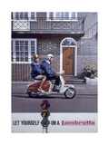 Poster Advertising Lambretta Scooters, 1963 Giclee Print