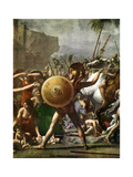 Hero Worship: Detail from the Intervention of the Sabine Women, 1799 Giclee Print by Jacques-Louis David