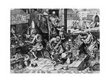 Elixir of Life: 'The Alchemist, 1558 Reproduction procédé giclée par Pieter Bruegel the Elder