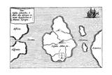 Legendary Island of Atlantis Giclee Print by Athanasius Kircher