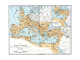 Map of the Roman Empire, 2nd Century Ad Giclée-tryk