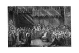 Coronation of Queen Victoria at Westminster Abbey, London, 28 June 1838 Giclee Print by George Hayter