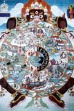 The Wheel of Life, Tibet, 19th-20th Century Giclée-tryk