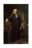Portrait of Sir Robert Walpole, 1st Earl of Orford, (1676-174), 1740 Giclée-Druck von Jean Baptiste Van Loo