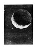 Illustration from De La Terre a La Lune by Jules Verne, 1865 Lámina giclée
