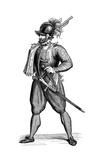 Foot Soldier Carrying an Harquebus, 1590 Giclée-Druck von Cesare Vecellio