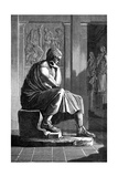 Aristotle (384-322 B), Ancient Greek Philosopher and Scientist Giclée-tryk
