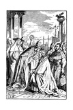 Frederick I Barbarossa and Pope Alexander III in Venice, 1840 Giclee Print by Ludwig Richter