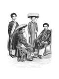 Annamese Chiefs and Women, Vietnam, 1895 Giclee-trykk