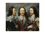 Charles I, King of England (1600-164), from Three Angles (The Triple Portrai), 1636 Giclée-Druck von Sir Anthony Van Dyck