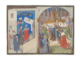 Death of Amalric I of Jerusalem, Coronation of Baldwin IV, 1460S Giclee Print