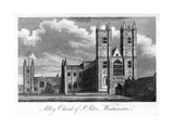 Abbey Church of St Peter, Westminster, London, 1805 Giclée-Druck