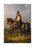 Equestrian Portrait of Holy Roman Emperor Francis II, (1768-183), 1832 Giclee Print by Johann Peter Krafft