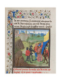 The Embassy of Peter the Hermit and Herluin to Kerbogha, 1460s Giclee Print