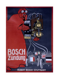 Poster Advertising Bosch Ignition Systems Giclee Print