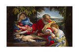 Rest on the Flight into Egypt with Saint Justina, 1529 Giclee Print by Lorenzo Lotto