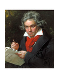 Portrait Ludwig Van Beethoven When Composing the Missa Solemnis, 1820 Giclee Print by Joseph Karl Stieler