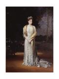 Portrait of Empress Alexandra Fyodorovna of Russia, the Wife of Tsar Nicholas II, 1914 Giclée-Druck von Jakov Jakovlevich Veber