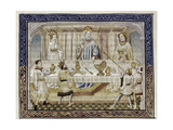 Caesar Augustus, His Wife and Son at Table, C.1410 Giclee Print