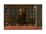 Saint Mamas in Prison Thrown to the Lions, 1455-1460 Giclée-tryk af Fra Filippo Lippi