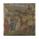 Coriolanus Persuaded by His Family to Spare Rome (Frescoes from Palazzo Del Magnifico, Sien), 1509 Giclee Print by Luca Signorelli