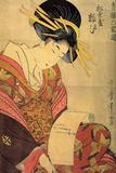 The Courtesan Yosooi of the Matsubaya House, C1800 Giclée-tryk af Kitagawa Utamaro