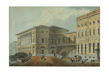 View of the Palace Embankment in St. Petersburg, First Quarter of 19th C Giclee Print by Karl Ivanovich Kolmann