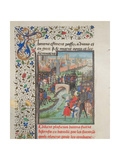 Clash of the Army of the Barons and the Saracens, 1460s Giclee Print