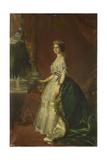 Portrait of Eugénie De Montijo (1826-192), Empress of the French, 1853 Reproduction procédé giclée par Franz Xaver Winterhalter