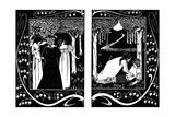 The Four Queens and Lancelot, 1893-1894 Lámina giclée por Aubrey Beardsley