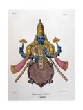 Vishnu, One of the Gods of the Hindu Trinity (Trimurt), 1828 Giclée-tryk