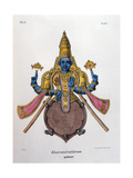 Vishnu, One of the Gods of the Hindu Trinity (Trimurt), 1828 Lámina giclée