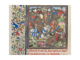 The Battle Between the Crusaders and Saracens, 1460s Giclee Print