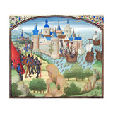 The Capture of Constantinople by Land and Sea in 1204 Giclee-trykk