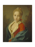 Portrait of Princess Catherine of Holstein-Beck (1750-181), 1760-1762 Giclée-tryk af Pietro Antonio Rotari