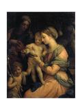 Madonna Teaching the Infant Christ Reading, 1705 Giclée-tryk af Carlo Maratta