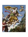 Mary Magdalene Taken Up to Heaven, C1620 Lámina giclée por  Domenichino