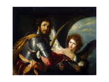 Saint Secundus and Angel, C1640 Lámina giclée por Bernardo Strozzi