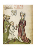 Emperor Sigismund before Joan of Arc, C. 1450 Giclee Print by Diebold Lauber