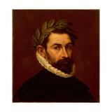 Portrait of the Poet Alonso De Ercilla Y Zuniga (1533-159), Between 1576 and 1578 Lámina giclée por  El Greco