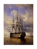 Russian Battleship Imperator Aleksandr I (Emperor Alexander), 1840 Gicléedruk van Ferdinand Victor Perrot