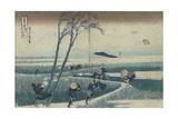 Ejiri in the Suruga Province (From the Series Thirty-Six Views of Mt Fuj), C. 1830 Impressão giclée por Katsushika Hokusai